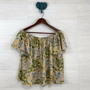 Plenty by Tracy Reese Pastel Floral Off Shoulder